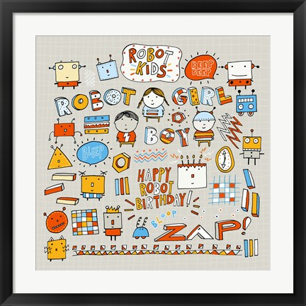 Framed Robot Kids Print