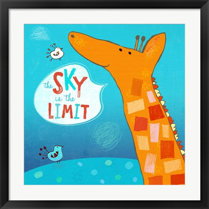Framed Sky Is The Limit Print