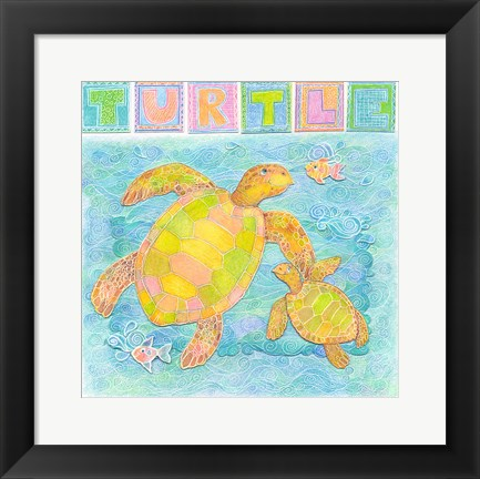 Framed Turtle Print