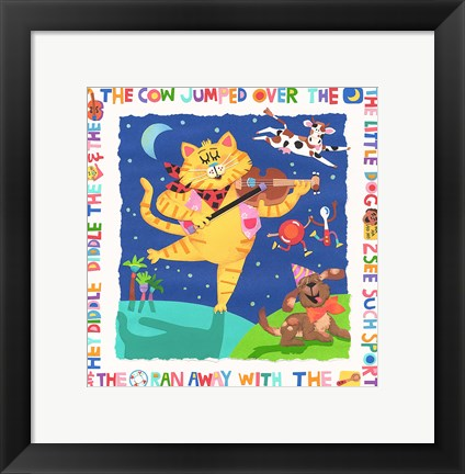 Framed Cow Jumped Over The Moon Print