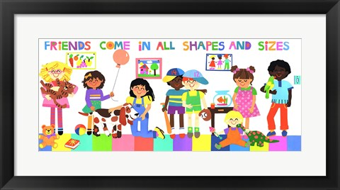 Framed Friends Come In All Shapes And Sizes Print