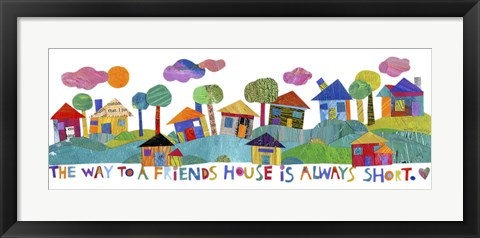 Framed Friends House Print