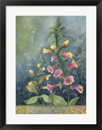 Framed Foxgloves Print