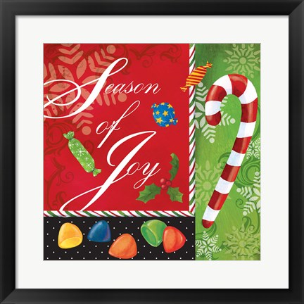 Framed Sweet Christmas II Print