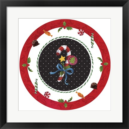 Framed Sweet Christmas IV Print