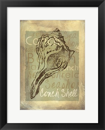 Framed Shore Life III Print