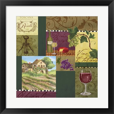 Framed Wine Panels Print