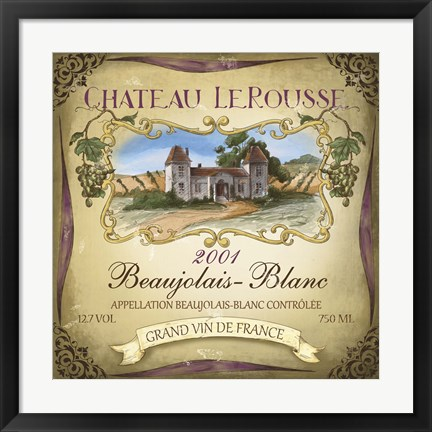 Framed Chateau Le Rousse Print