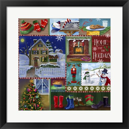 Framed Home For The Holidays Winter Print
