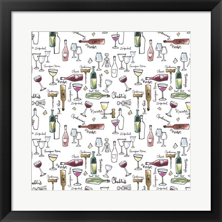 Framed Taste of Wine I Print