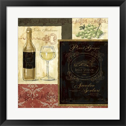 Framed Italian Wine Patch Print