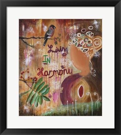 Framed Living In Harmony Print