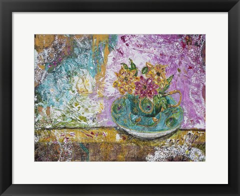 Framed Serenity In A Teacup Print