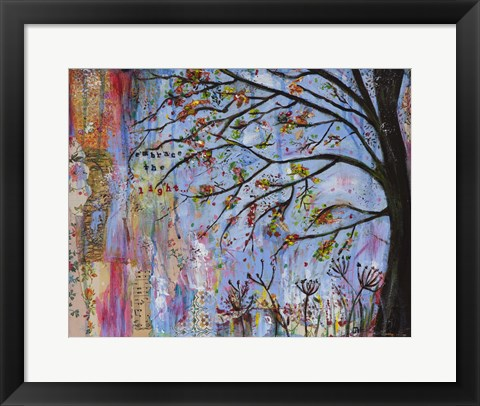 Framed Embrace The Light Print