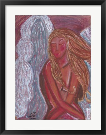 Framed Angel Of Love Print