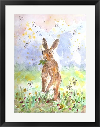 Framed Hare Today Print
