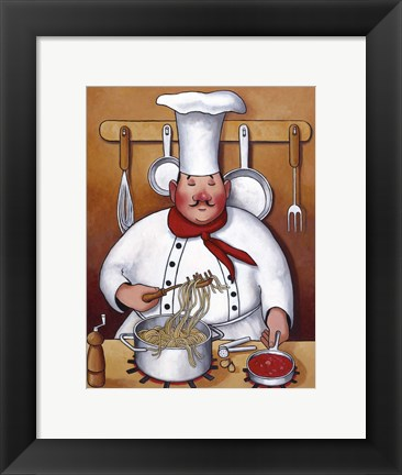 Framed Chef IV Print