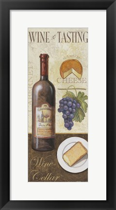 Framed Wine And Cheese I Print