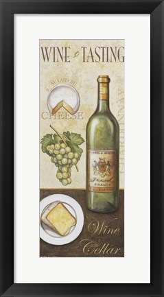 Framed Wine And Cheese II Print
