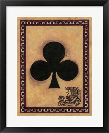 Framed Jack Of Clubs Print