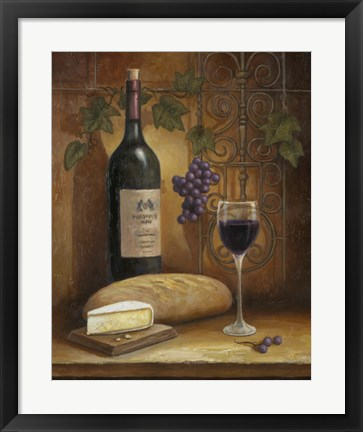 Framed Wine And Cheese A Print
