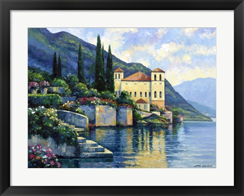 Framed Reflections Of Lago Maggiore Print