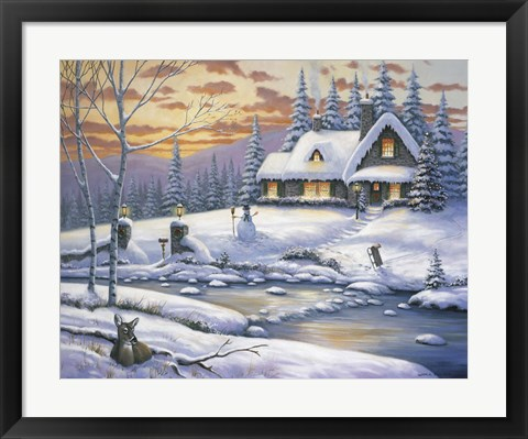 Framed Winter Retreat Print
