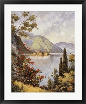 Framed Lake Como Print