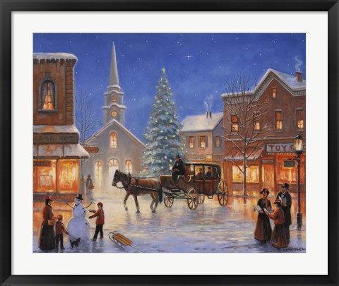 Framed Christmas In Pleasantville Print