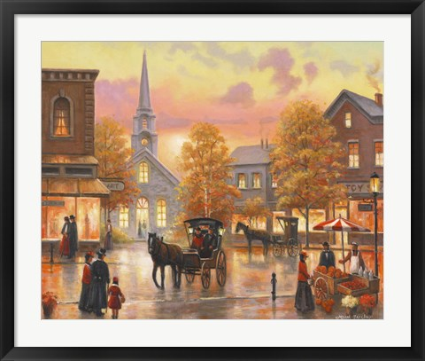 Framed Autumnal Breeze In Pleasantville Print