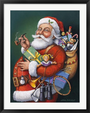 Framed Saint Nick And All His Toys Print