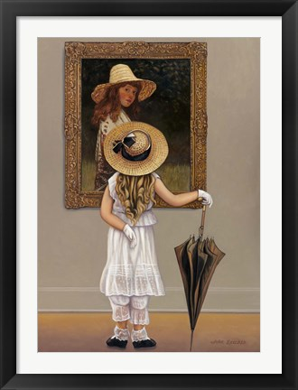 Framed Girl In Museum Print
