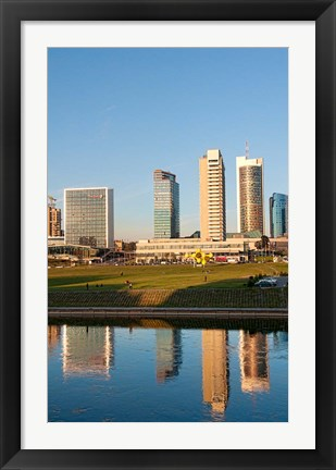 Framed Vilnius, Lithuania, Downtown skyline, skyscrapers Print