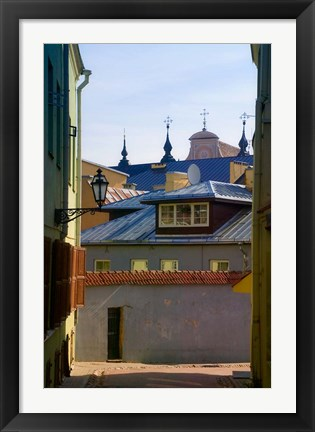 Framed Traditional Houses in the old town, Vilnius, Lithuania Print