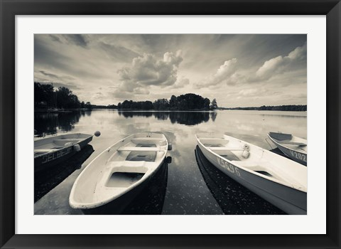 Framed Lake Galve, Trakai Historical National Park, Lithuania II Print