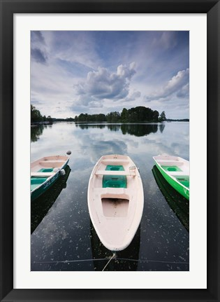 Framed Lake Galve, Trakai Historical National Park, Lithuania III Print