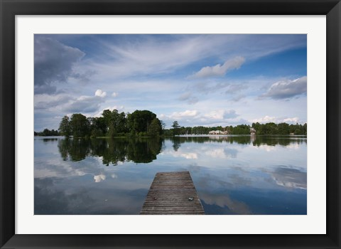 Framed Lake Galve, Trakai Historical National Park, Lithuania VI Print