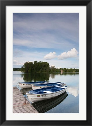 Framed Lake Galve, Trakai Historical National Park, Lithuania VII Print