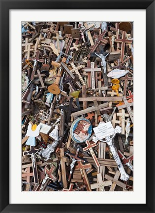 Framed Lithuania, Siauliai, Hill of Crosses, Christianity II Print