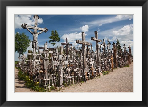 Framed Lithuania, Siauliai, Hill of Crosses, Christianity III Print