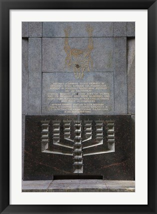 Framed Site of the Nazi deathcamp in World War Two, Vilnius-area, Lithuania Print