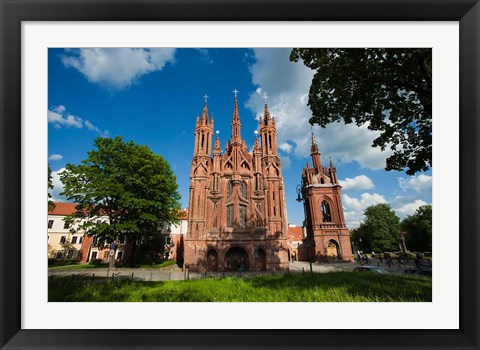 Framed St Anne and Bernardine Churche, Vilnius, Lithuania Print