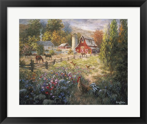 Framed Grazing The Fertile Farmland Print