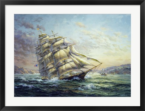 Framed Clipper Ship Surprise Print