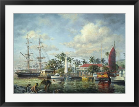 Framed Lahaina Waterfront, Maui Print