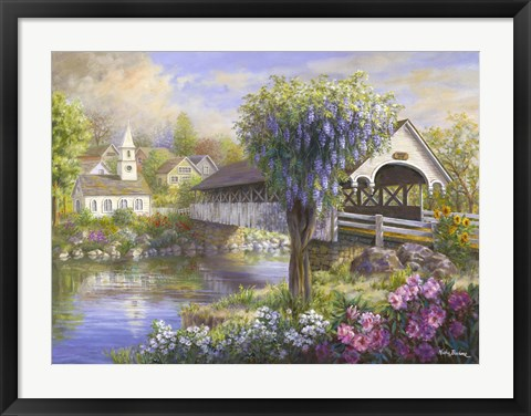 Framed Picturesque Covered Bridge Print