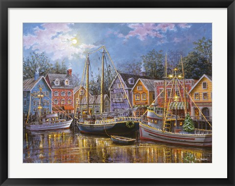 Framed Ships Aglow Print