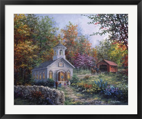 Framed Worship In The Country Print