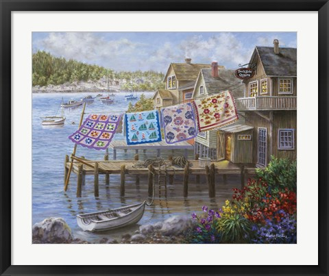 Framed Dock Side Quilts Print