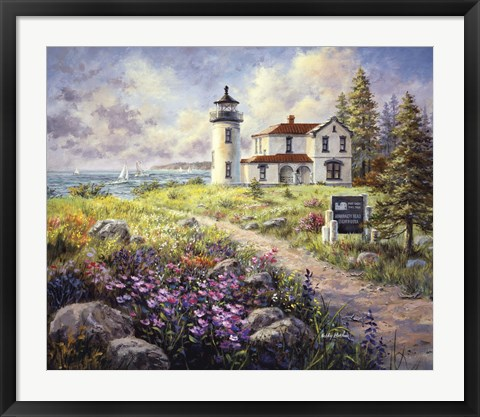 Framed Admirality Head Lighthouse Print